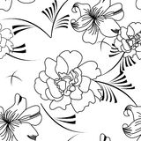 Monochrome seamless pattern Royalty Free Stock Photo
