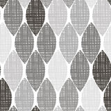 Monochrome seamless pattern of abstract leaves. Royalty Free Stock Photography