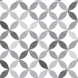 Monochrome seamless pattern of abstract leaves. Stock Image