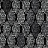 Monochrome seamless pattern of abstract leaves. Royalty Free Stock Photo