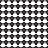 Monochrome seamless pattern with clover leaves, the symbol of St. Patrick's Day in Ireland Stock Image