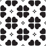Monochrome seamless pattern with clover leaves, the symbol of St. Patrick's Day in Ireland Royalty Free Stock Image