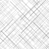 Monochrome seamless pattern. Diagonal random lines. Abstract texture. Black and white abstract backdrop. Plaid Fabric texture. Random lines. Seamless pattern Royalty Free Stock Photos