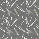 Farriers tools pattern similar stock illustration