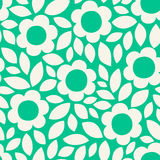 Monochrome seamless pattern with flower silhouettes. Floral background Royalty Free Stock Photo