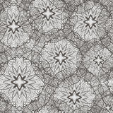 Monochrome seamless pattern with flowers Royalty Free Stock Image