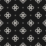 Monochrome seamless pattern, geometric vector texture, smooth outline shapes stock illustration