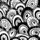 Monochrome seamless pattern Stock Images