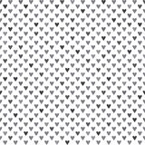 Monochrome seamless pattern with hearts Royalty Free Stock Photos