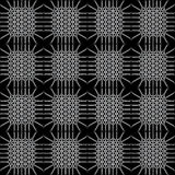 Monochrome seamless pattern with interesting lattice Royalty Free Stock Images