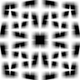 Monochrome seamless pattern of interlaced fading lines. Grid, me Stock Images
