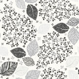 Monochrome seamless pattern with lilac flowers. Vector illustrat Stock Photos