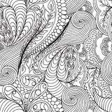 Monochrome seamless pattern. With ornate detailed ornament. Ornament are hidden clipping mask. Easy to change. Useful for packaging, invitations, gift cards and vector illustration