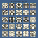 25 monochrome seamless pattern set. Twenty five Stock Photo