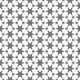 Monochrome seamless pattern with stars in arabian style. Vector background Royalty Free Stock Images