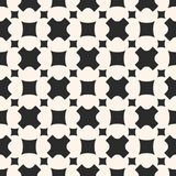 Monochrome seamless pattern. Stylish geometric texture, crosses, Stock Images