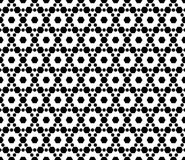 Monochrome seamless pattern, texture with hexagons Stock Images