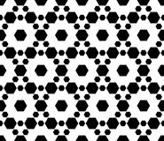 Monochrome seamless pattern, texture with hexagons Royalty Free Stock Image