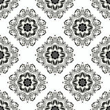 Monochrome seamless pattern. Vintage decorative elements. Vector illustration Royalty Free Stock Photos