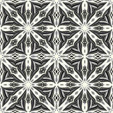 Monochrome seamless pattern. Vintage decorative elements. Vector illustration Stock Image