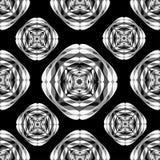Monochrome seamless pattern. Vintage elements. Vector illustration Stock Image