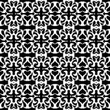 Monochrome seamless pattern vintage ethnic ornament on a black background vector illustration Stock Images