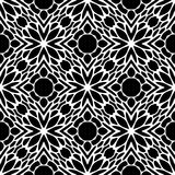 Monochrome seamless pattern in white background Royalty Free Stock Images