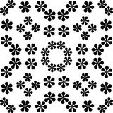 Monochrome seamless pattern in white background. This vector pattern is for website background, wallpaper, screen sever, book cover, screen printing, laser Stock Photos