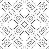 Monochrome seamless pattern in white background Stock Photo