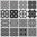 Monochrome seamless patterns design. Royalty Free Stock Photography