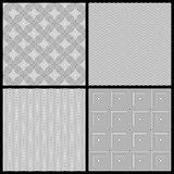 Monochrome seamless patterns Stock Images