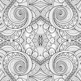 Monochrome Seamless Tile Pattern, Fancy Kaleidoscope Stock Photography