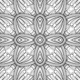 Monochrome Seamless Tile Pattern, Fancy Kaleidoscope Stock Images