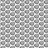 Monochrome seamless vector pattern with hand drawn curls. Royalty Free Stock Photography