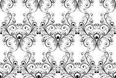 Monochrome seamless wallpaper Royalty Free Stock Photos