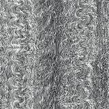 Monochrome seamless waves hand-drawn pattern Stock Image