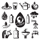 Water icons Stock Image
