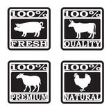 Set of butcher shop labels Royalty Free Stock Image