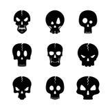 Monochrome set of skulls icon. Stock Image
