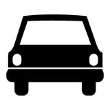 Monochrome silhouette of automobile front Royalty Free Stock Photography