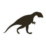 Monochrome silhouette with dinosaur allosaurus Stock Photo