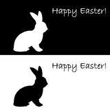 Monochrome silhouette of an Easter bunny. Design E Stock Photography