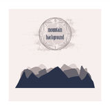 Monochrome silhouette of layered mountains Stock Image