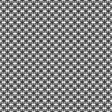 Monochrome simple stylized snowflake pattern wallpaper - geometric vector winter holiday decoration graphic Royalty Free Stock Image