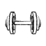 monochrome sketch of dumbbell for training in gym Stock Images