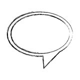 monochrome sketch of oval speech with tail to right side Royalty Free Stock Photos