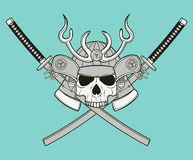 Monochrome skull illustration Royalty Free Stock Photography