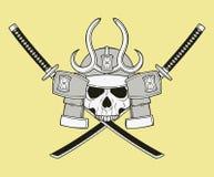 Monochrome skull illustration Stock Images