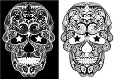 Monochrome Skulls Royalty Free Stock Image
