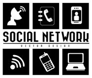 Monochrome social network Stock Images
